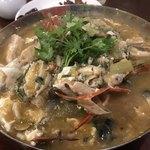 中華料理 八戒 - 虎河豚と渡蟹の春雨スープ