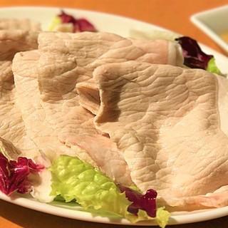 新LunchMenuTNGLunchメインは豚の冷しゃぶ!