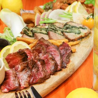 お好きなお肉をチョイスできる肉盛り合わせ!
