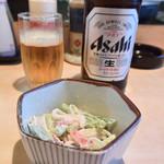 とさ - 料理写真:ビール&お通し