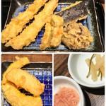天ぷら那かむら - 料理写真:海老天定食(ご飯・お味噌汁付) 1274円