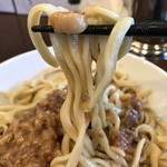 麺屋 歩夢 - 【2018.7.3】中加水の中太麺。