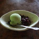 茶屋 卯三郎 - デザートの抹茶アイス