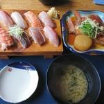 88860397 - 2018年6月 金目頭煮と寿司定食 2200円