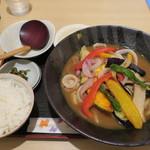 釜ひろ - 冷やしカレーうどん定食