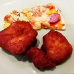 デザートフェスティバル - 鶏の唐揚げとピザ