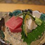 志木葉 - 本マグロ・太刀魚のお造り 海ぶどう、かぼちゃ添え