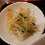 中国家庭料理 龍盛 - セットの和え物