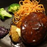 スワン食堂 - 鉄板ハンバーグ(デミグラス)(1,280円・別)