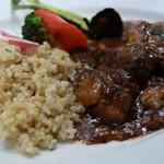 AUREOLE - 牛肉煮込みバルサミコソース玄米プレート 980円(税抜)