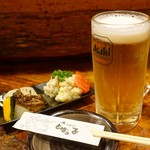 とばっ子 - 2018年3月 生ビール【550円】