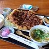 一力庵 - 料理写真:2018年3月 とんかつ定食(大)【1500円+税】意外に余裕で完食でした~(´▽`)