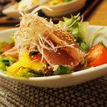 宮崎料理 万作 - たたきサラダ