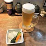 麺屋502 - 麺屋502(生ビール小ジョッキ 250円 ※漬物付)
