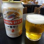 いわ瀬 - ドリンク写真:缶ビール350円