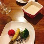 & meat - 畑野菜のバーニャカウダ