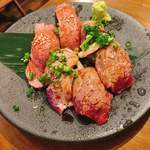 & meat - 肉寿司3種盛り合わせ