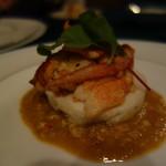 シャテール - フランス産ブルーオマール海老 ホタテ貝のフランを添えて