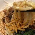 ほうきぼし+ - 麺は中太のモチモチ
