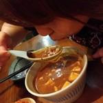 いかれたヌードル フィッシュトンズ - 豚骨麻婆豆腐つけ丼