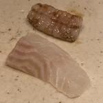 すし岩瀬 - 松川鰈と縁側の炙り
