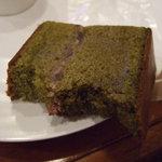 那須高原柏屋 - 抹茶のケーキ