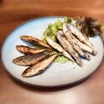 Ginzaraionodawaratozanisuto - 《豆アジと小イワシのフライ》500円(税別)