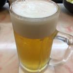 ヨネヤ - 生中セット¥980の中生ビール。