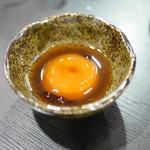 わらじ - 卵黄の醤油漬け¥150