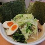 らーめん 五郎松 - 野菜らーめん800円+味玉、海苔まし