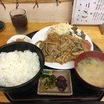 なんじゃぁこりゃぁ - 豚生姜焼定食 750円