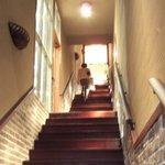 J.S. BURGERS CAFE - お店へ通じる階段です。