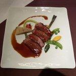 """frigerio - 南堀江フレンチ""""frigerio cuisine francaise""""ワンプレートランチセット「鴨の蜂蜜ソース・スパイス風味」"""
