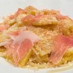 バルケッタ - トウモロコシと生ハムの冷製スパゲッティーニ