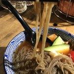 小田原畜産姉妹店 激旨焼肉 うしえ者 - めちゃくちゃ麺が固かったー
