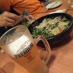 ゆずの助 - ビールとサラダ