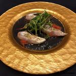 インコントラ・ヒラヤマ - 炙り太刀魚のカルパッチョ