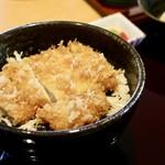とんかつ葉月 - 醤油かつ丼定食