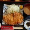 とんかつ棹 - 料理写真:大ロースかつ定食(税込み1080円)
