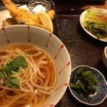 魚と酒 ことぶきや - 天ぷら5種と稲庭うどん