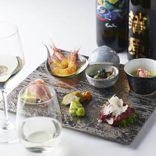 ソムリエ厳選の100種以上のイタリアワインと日本酒