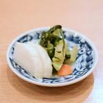 新宿割烹 中嶋 - 【鰯 刺身定食@税込800円】お新香