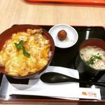 鶏三和 - 親子丼鶏そばセット(名古屋コーチン) ¥1,275-