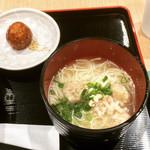 鶏三和 - 鶏そば(素麺)