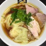 超純水採麺 天国屋 - 鶏醤油ワンタン麺(淡口)(1000円)