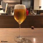 リストランテルーチェ - 泡の肌理が細やかな生ビール