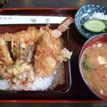 安楽 - '18/07/08 サービス天丼(750円)
