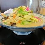 ちゃんぽん 一鶴 - 料理写真:野菜増し 横から