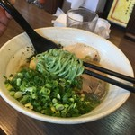 らーめん功喜 - アオサ入り麺で