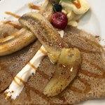 三茶cafe - 料理写真:キャラメル風味の焼きバナナガレット